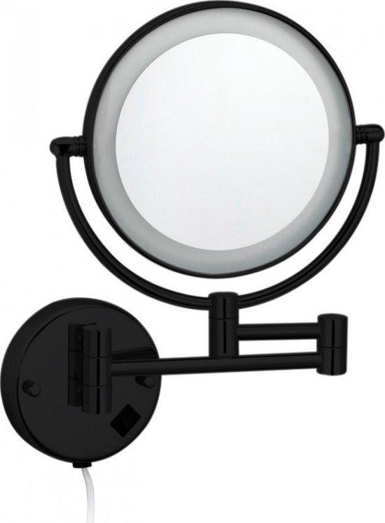Best Design Black Steiner wand cosmeticaspiegel incl. LED verlichting Nero mat zwart