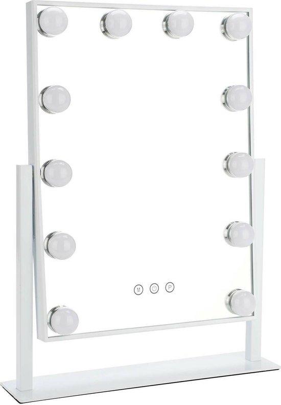 Bright Beauty Vanity hollywood make up spiegel met verlichting - wit - dimbaar met drie lichtstanden