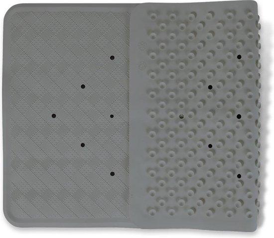 Badmat Grijs - 40 x 70 cm - antislip mat - voor bad en douche