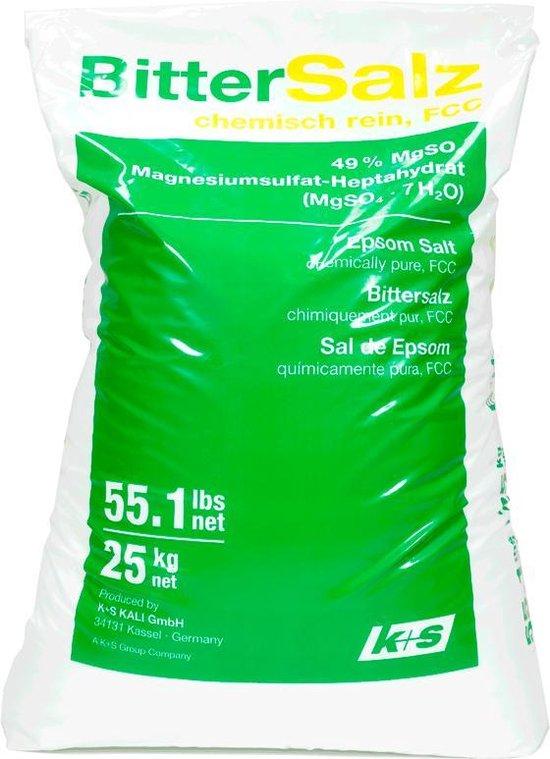 Epsom zout - Bitterzout - Magnesiumsulfaat - Badzout - 25 kg - in zak