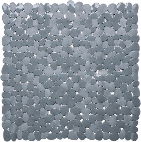 Grijze anti-slip douche mat 53 x 53 cm vierkant - Schimmelbestendig - Anti-slip grip mat voor de badkamer/douche
