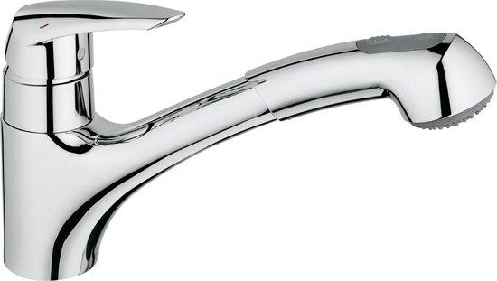 GROHE Eurodisc Keukenkraan - Met uittrekbare handdouche - Chroom