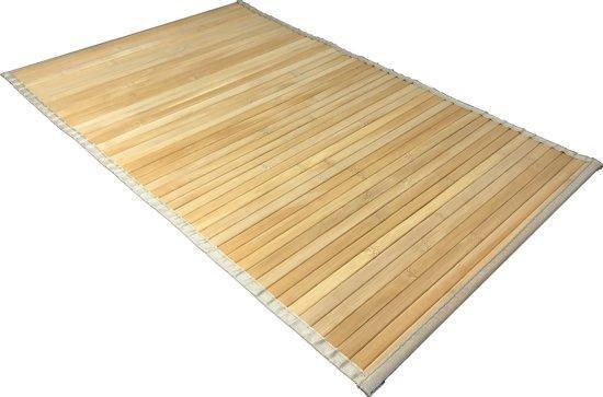 Tritorelia Bamboe badkamer douche sauna en bad mat - 50 x 80 cm