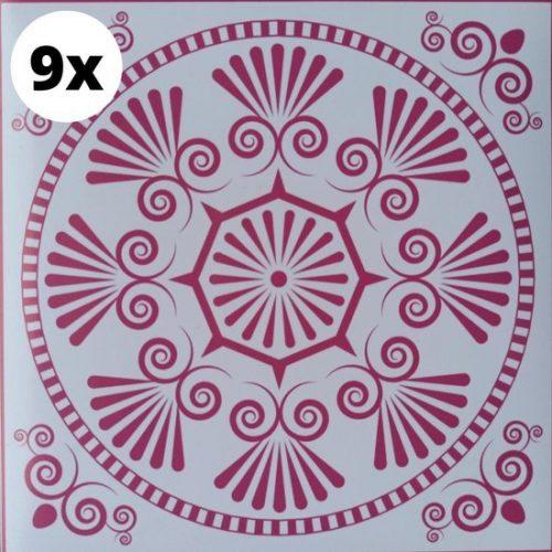 9 Tegelstickers 15x15CM | Meerdere Maten Beschikbaar | Portugese Arabische Stickertegel Stickertegels | Badkamertegels Keukentegels Spatwand Achterwand Keuken | Tegelsticker...