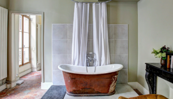 Retro badkamer, vintage stijl