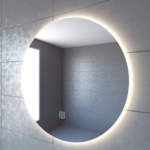 Adema Circle badkamerspiegel rond diameter 80cm met indirecte LED verlichting met spiegelverwarming en touch schakelaar