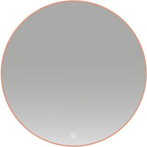 Badkamerspiegel Lana Rond 60x60cm Koper Geintegreerde LED Verlichting Touch Schakelaar