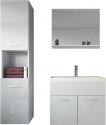 Badplaats – Badkamermeubel Montreal 60cm – Wit – Badmeubel met spiegel en zijkast