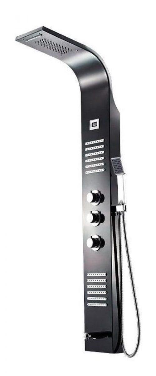Badplaats - Douchepaneel Monza LED - Mengkraan - Regendouche met massagejets