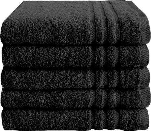 Byrklund Bath Basics Set Zwart - 5 handdoeken 50x100cm