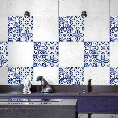 Crearreda - Tegelsticker - Delfts Blauwe Tegel - 20 x 20 cm - 3 stuks