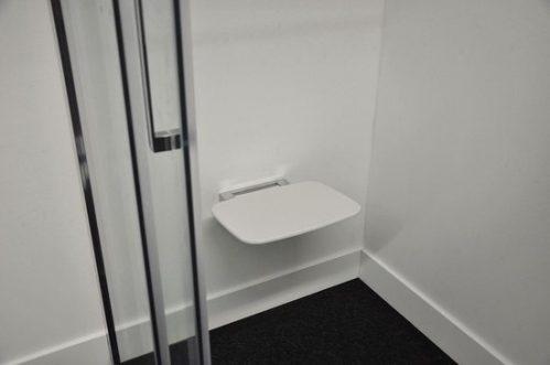 Douche-stoel Wiesbaden wandmontage opklapbaar wit