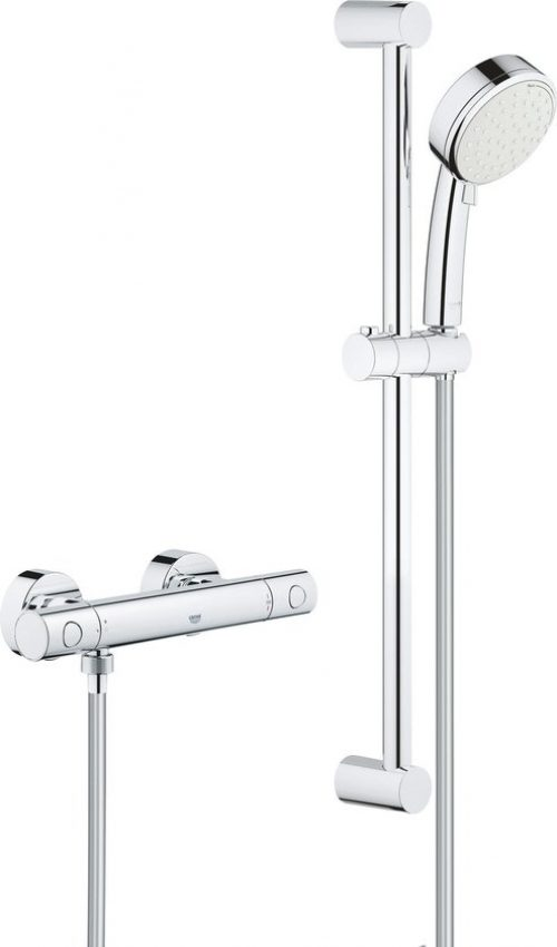 GROHE Grohtherm 800 Cosmopolitan Comfortset - 600mm - incl. koppelingen - chroom - 34768000