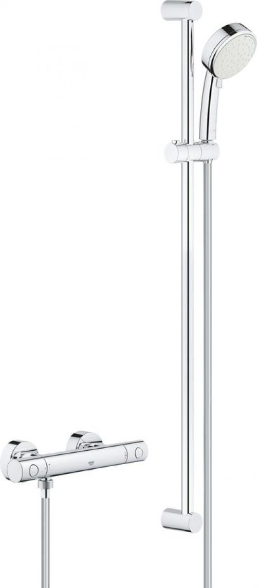 GROHE Grohtherm 800 Cosmopolitan Comfortset - 900mm - incl. koppelingen - chroom - 34769000