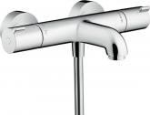 hansgrohe Ecostat 1001 CL opbouw badthermostaat – 15 cm hartafstand – maximale watertemperatuur instelbaar – chroom