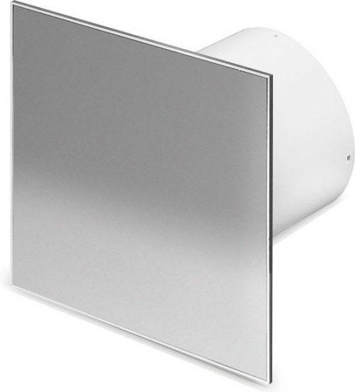 Ventilatieshop badkamer/toilet ventilator - timer - vochtsensor - Ø100mm - RVS vlak